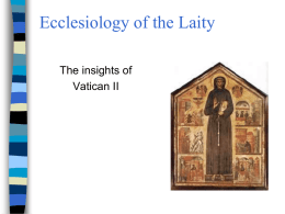 Ecclesiology of the Laity
