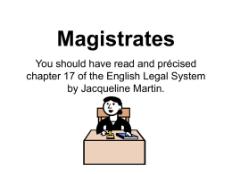 Magistrates - Dr Peter Jepson