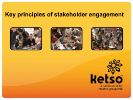 Key principles of stakeholder engagement