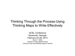 Thinking Through the Process-Using Thinking Maps to