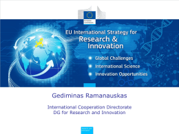 Enhancing and focusing EU international cooperation in research