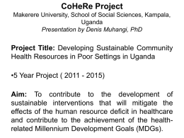 Cohere Uganda-Coalition progress presentation