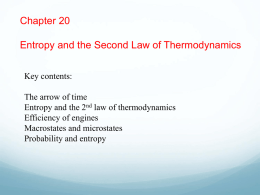 Chapter 20 - Entropy and the Second Law of Thermodynamics