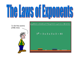 PPT: Laws of Exponents