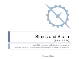 Normal Stress (1.1-1.5) - Department of Mechanical and Aerospace