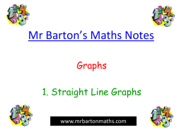 Straight Line Graphs - Chiltern Edge School