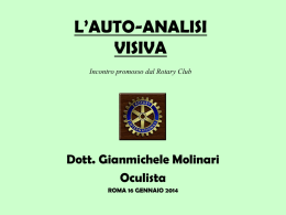 Le diapositive dell`intervento - Rotary Club Roma Castelli Romani