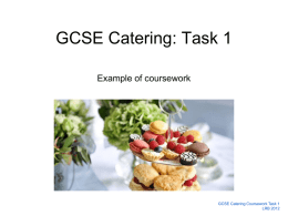 GCSE Catering Coursework Example
