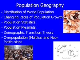 Population Geography - Canton Local Schools