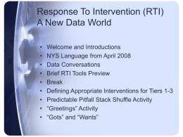 RtI Conference PowerPoint March 26, 2010
