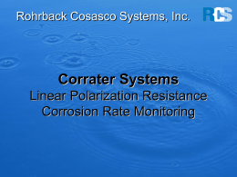 Corrater Systems - Rohrback Cosasco Systems