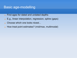 Age-depth modelling workshop