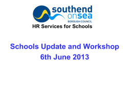 HR Services for Schools Health and Safety updates