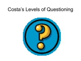 Costa`s Levels of Questioning