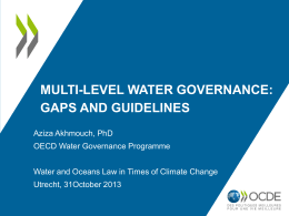 Multi-level Water Governance - Utrecht Centre for Water, Oceans