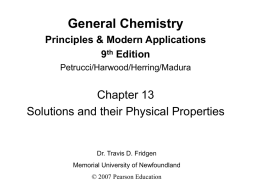 General Chemistry Principles & Modern Applications 9 th Edition