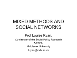 MIXED METHODS - the NCRM EPrints Repository