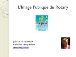 Semaine de la communication - Rotary International District 1680