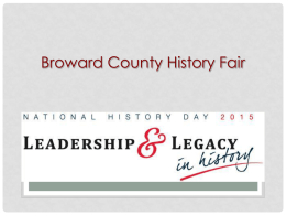 History Fair 2015 (powerpoint)