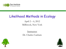 Likelihood and Information Theoretic Methods in Forest - sortie-nd