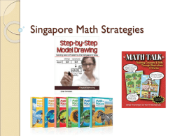 Singapore Math Strategies
