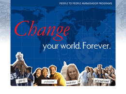 People to People Student Ambassador Programs