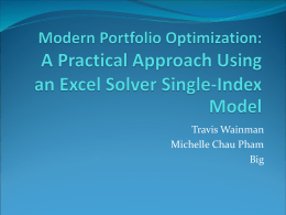 Modern Portfolio Optimization: A Practical