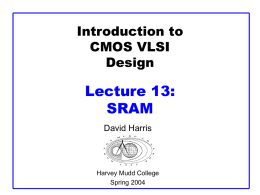 ppt - CMOS VLSI Design