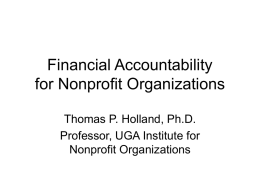 "Financial Accountability - ""Building Community Services That Grow"
