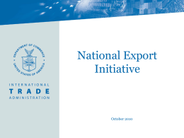 National Export Initiative
