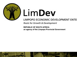 Presentation on SMME funding LIMDEV