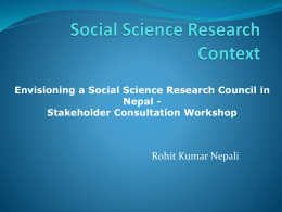 to - Social Inclusion Research fund