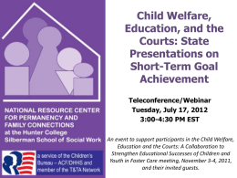 Child Welfare, Education, and the Courts