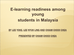 59_Lee Yoke et al_E-learning Readiness among Young Students in