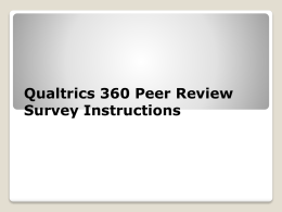 Qualtrics Instructions Peer Review Survey