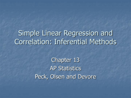 Regression Inference