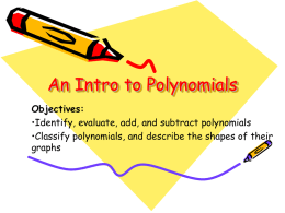 Introduction to Polynomial Functions and Their Graphs