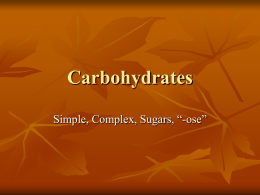 3. Carbohydrates