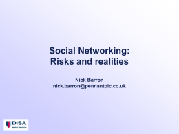 Social Networking - Defence Industry Security Association
