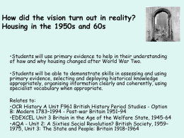 PPT: Housing in the 1950s and 60s