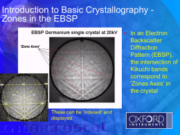 Introduction to basic Crystallography