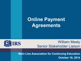IRS Online Payment Agreement (MACE Oct 16 2014)