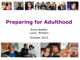 Preparing for Adulthood presentation ()