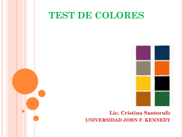 TEST DE COLORES - Universidad Argentina John F. Kennedy