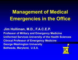 Management of Medical Emergencies in the Office