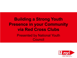 School Club Panel - American Red Cross Youth