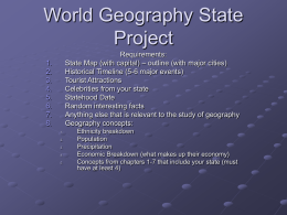World Geography State Project