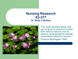 Nursing Research Lecture 7a