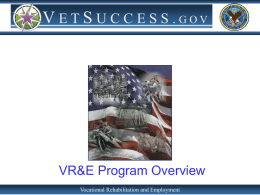 VR&E Program Overview