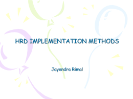 7.HRDImplementationMethods